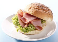 Sandwich with ham Stock Photo