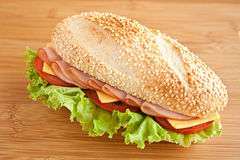 Sandwich with ham Royalty Free Stock Image