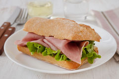 Sandwich with ham Stock Image