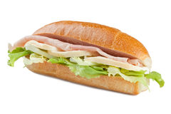 Sandwich with ham stock images