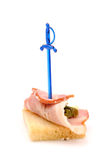 Sandwich with ham and asparagus Stock Photography