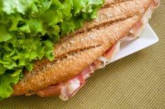 Sandwich with ham bocadillo Royalty Free Stock Photos