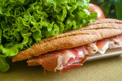Sandwich with ham bocadillo Royalty Free Stock Photography