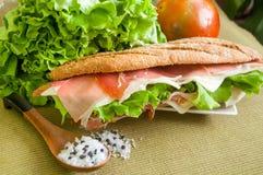 Sandwich with ham bocadillo Stock Photo