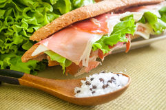Sandwich with ham bocadillo Stock Images