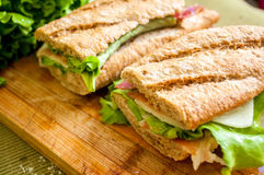 Sandwich with ham bocadillo Stock Images