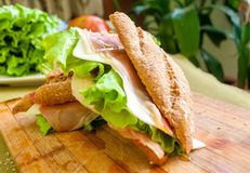 Sandwich with ham bocadillo Royalty Free Stock Photo