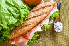 Sandwich with ham bocadillo Royalty Free Stock Image