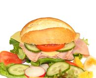 Sandwich with Ham and Cheese Stock Image