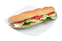 Sandwich with ham and cheese Royalty Free Stock Photos