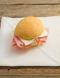 Sandwich with ham and cheese Stock Photography