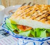 Sandwich ham&cheese Photo libre de droits