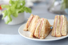 Sandwich ham and cheese Stock Photography