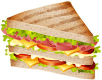 Sandwich with ham and cheese. Illustration Royalty Free Stock Photography