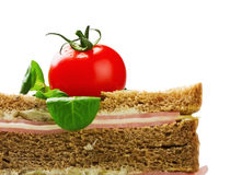 Sandwich with ham and chese, tomato Royalty Free Stock Image
