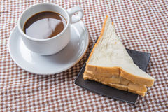 Sandwich with ham and coffee Stock Photos