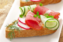 Sandwich with ham Royalty Free Stock Photo