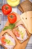 Sandwich with ham Stock Image