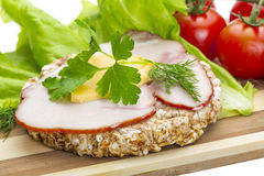Sandwich with ham Royalty Free Stock Images