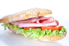 Sandwich of ham lettuce and tomato Stock Images