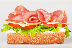 Sandwich with ham lettuce and tomato Stock Images