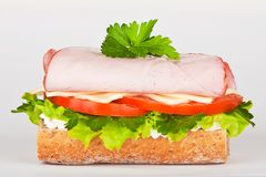 Sandwich with ham lettuce and tomato Stock Image