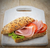 Sandwich with ham and tomatoes Stock Photo
