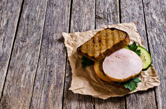 Sandwich with ham and vegetables Stock Photography