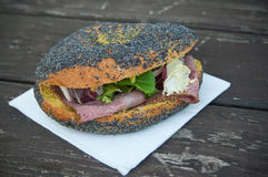 Sandwich with ham and vegetables Stock Photos