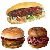 SANDWICH and hamburger Stock Photos