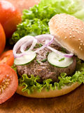 Sandwich with hamburger Royalty Free Stock Photo