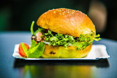 Sandwich hamburger with and mix of vegetables Royalty Free Stock Photo