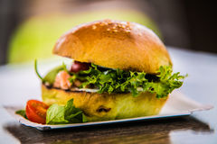 Sandwich hamburger with and mix of vegetables Stock Image
