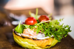 Sandwich hamburger with and mix of vegetables Royalty Free Stock Images