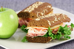 Sandwich healthy meal. One of the best catering choices fast and healthy ,great business people meal Royalty Free Stock Images