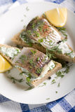 Sandwich with herring Stock Photo