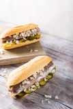 Sandwich with herring Royalty Free Stock Photo