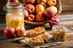 Sandwich with homemade apple jam Royalty Free Stock Images