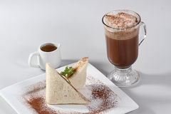 Sandwich and hot chocolate Royalty Free Stock Image