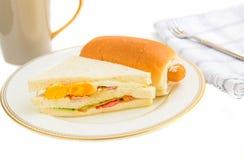 Sandwich and hotdog Royalty Free Stock Photography