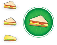 Sandwich icon. Isolated sandwich icon - vector illustration Royalty Free Stock Photos