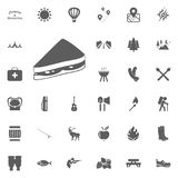 Sandwich icon. Camping and outdoor recreation icons set.  Royalty Free Stock Photography