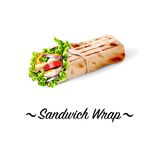 Sandwich icon. Stock Photos
