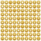 100 sandwich icons set gold. 100 sandwich icons set in gold circle isolated on white vectr illustration vector illustration
