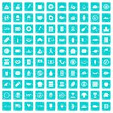 100 sandwich icons set grunge blue. 100 sandwich icons set in grunge style blue color isolated on white background vector illustration royalty free illustration