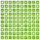 100 sandwich icons set grunge green. 100 sandwich icons set in grunge style green color isolated on white background vector illustration Stock Illustration