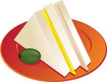 Sandwich illustration Royalty Free Stock Image