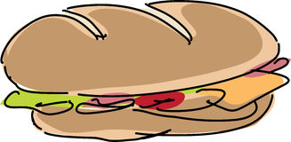 Sandwich illustration Royalty Free Stock Image