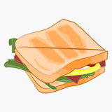 Sandwich illustration. Vector Sandwich illustration. Cartoon vector icon isolated on white background Stock Images