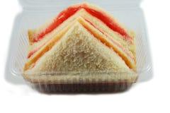 Sandwich im Kasten Stockfoto